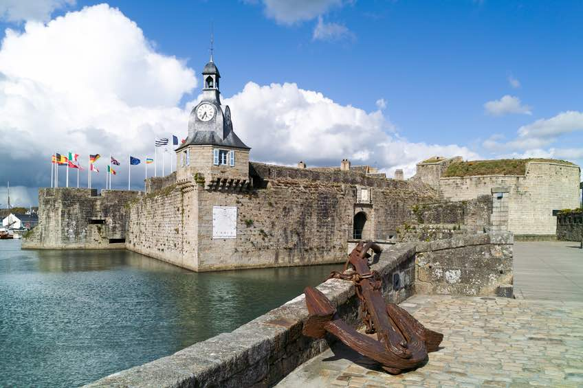 harbor of concarneau in brittany
